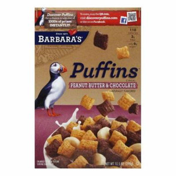 Barbara's Peanut Butter Chocolate Puff Cereal, 10.5 OZ (Pack of 12)
