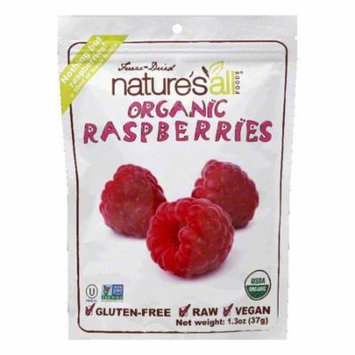 Natures All Foods Freeze-Dried Organic Raspberries, 1.3 Oz (Pack of 12)