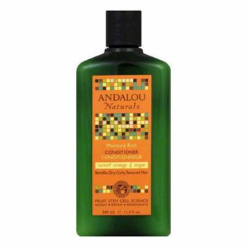Andalou Naturals Sweet Orange & Argan Moisture Rich Conditioner, 11.5 Oz