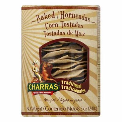 Charras Baked Corn Tostadas, 8.5 Oz (Pack of 8)