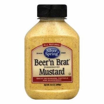 Silver Springs Mustard Beer'n Brat Horseradish, 9.5 OZ (Pack of 9)