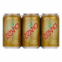 Zevia Cream Soda Soda, 12 OZ (Pack of 4)