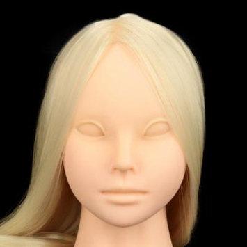 Anself Cosmetology Training Mannequin Head Model Face Long Hair False Eyelash Extension Makeup Practice