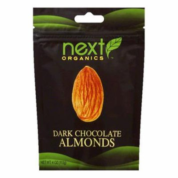 Next Organics Almonds chocolate drk org, 4 OZ (Pack of 6)
