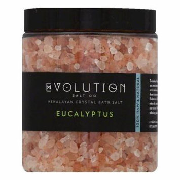 Evolution Salt Eucalyptus Himalayan Crystal Bath Salt, 26 OZ