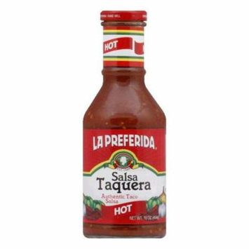 La Preferida Salsa Taquera Hot, 16.4 OZ (Pack of 12)