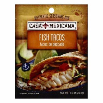 Casa Mexicana Fish Tacos Authentic Seasoning Mix, 1 OZ (Pack of 12)