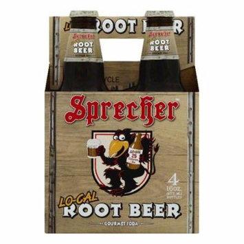 Sprecher Lo-Cal Root Beer Gourmet Soda, 4 ea (Pack of 6)