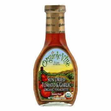 OrganicVille Gluten Free Vinaigrette Sundried Tomato & Garlic, 8 OZ (Pack of 6)