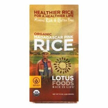 Lotus Foods Madagascar Pink Organic Rice, 15 Oz (Pack of 6)