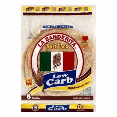 La Banderita Soft Taco Low Carb Tortillas, 8 ea (Pack of 12)