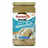 Manischewitz in Broth Reduced Sodium Matzo Balls, 24 OZ (Pack of 12)
