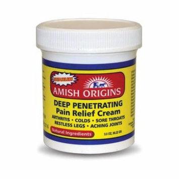 5 Pack - Amish Origins Deep Penetrating Pain Relief Cream 3.5 oz(99.22 g) Each