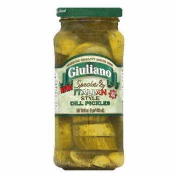 Giuliano Italian Style Dill Pickles, 16 Oz (Pack of 6)