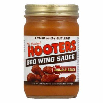 Hooter's Sauce BBQ Wing, 12 OZ (Pack of 6)