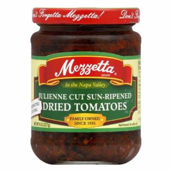 Mezzetta Julienne Sun Dried Tomatoes In Olive Oil, 8 OZ (Pack of 6)