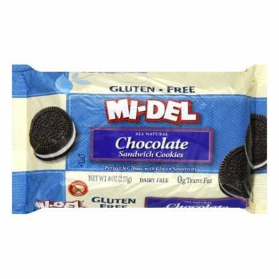 Midel Gluten Free Chocolate Sandwich Cookies, 8 OZ (Pack of 12)