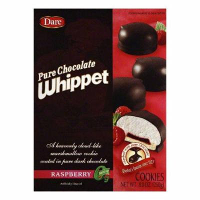 Dare Raspberry Pure Chocolate Whippet Cookies, 8.8 OZ (Pack of 12)