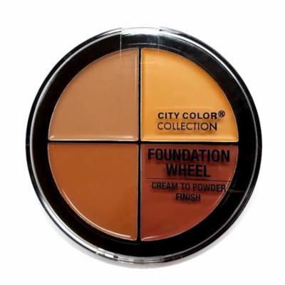 (6 Pack) CITY COLOR Foundation Wheel Medium to Deep