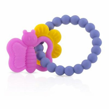 Nuby Chewy Charms Silicone Teether, Flower