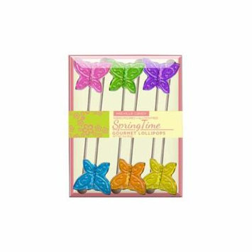 Mini Butterfly Frosted Lollipops, 6 Count, 3 Pack