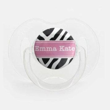 Personalized Name Zebra Pacifier, Asymmetric Newborn