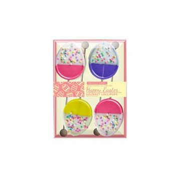 White Chocolate Dipped Easter Egg with Confetti Lollipop, 4 Pack, 3 Count
