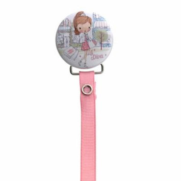 Lil Diva Goes Shopping Pacifier Clip with Matching Ribbon