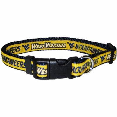 Pets First College West Virginia Mountaineers Pet Collar, 3 Sizes Available, Sports Fan Dog Collar