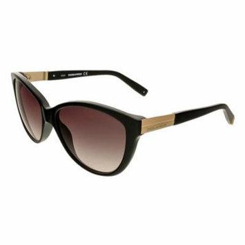 Dsquared DQ0112/S 01B Black Cat Eye Sunglasses