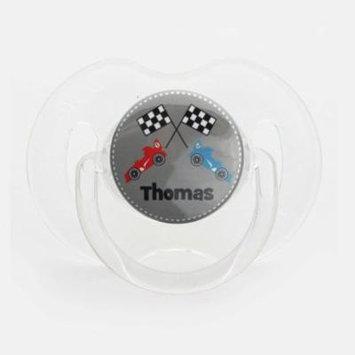Personalized Name Racing Car Pacifier, Symmetric Newborn