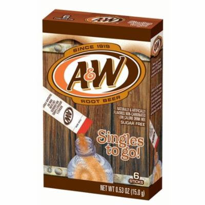 A&W Singles To-Go Drink Mix, Root Beer, 12 Boxes