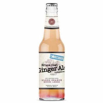 Bruce Cost Blood Orange Meyer Lemon Ginger Ale 12 oz Glass Bottles - Pack of 12