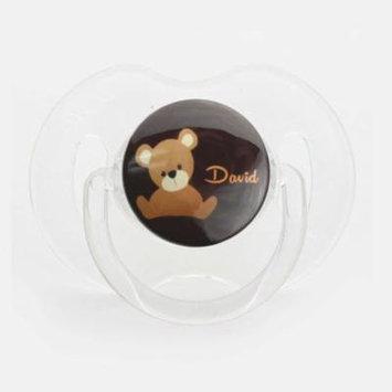 Personalized Name Teddy Bear Pacifier, Symmetric Newborn