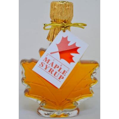 Pure Maple Syrup in Glass Maple Leaf - 3.4 oz (6 bottles)