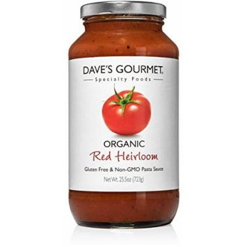 Dave's Gourmet Organic Red Heirloom Pasta Sauce, Pack of 3