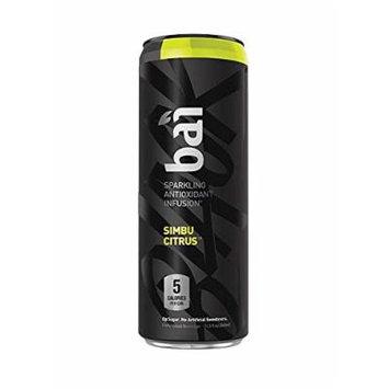 Bai Black Simbu Citrus, Sparkling Antioxidant Infused Beverage, 11.5 Fluid Ounce Cans, (Pack of 12)