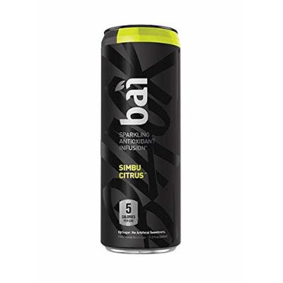 Bai Black Simbu Citrus, Sparkling Antioxidant Infused Beverage, 11.5 Fluid Ounce Cans, (Pack of 12)