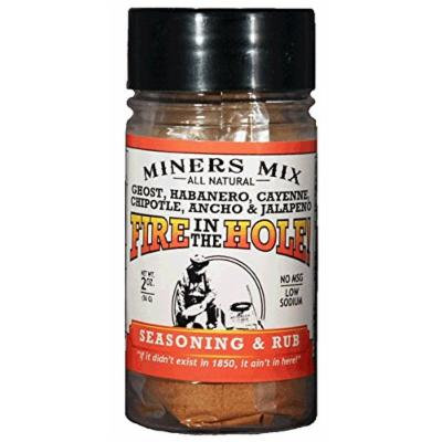 Fire in the Hole Seasoning and Rub with Genuine Ghost or Bhut Jolokia Peppers, Habanero, Jalapeno, Chipotle, Ancho, and Cayenne Plus a Boatload of Other Spices. 2017 Hot Pepper Award Winner