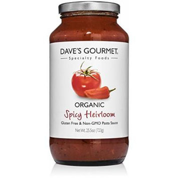 Dave's Gourmet Organic Spicy Heirloom Marinara Pasta Sauce, Pack of 3
