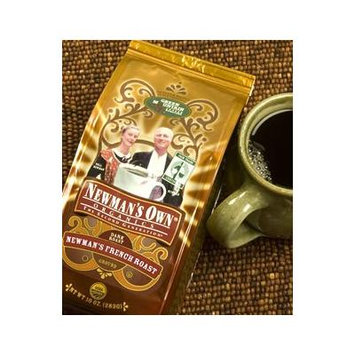 Newman's Own Organics Organic Coffee Newman's French Roast 10 oz. Whole Bean (Pack of 8)
