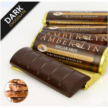 Sugar-free Dark Chocolate Bars, Low Carb, Diabetic Friendly, Gluten-free (Dark Chocolate English Toffee, 15 bars)