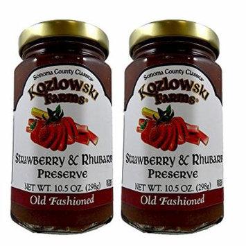 Kozlowski Farms - Specialty Preserves - Kosher KSA - Strawberry & Rhubarb Preserve - 2 Pack (10.5 oz each)