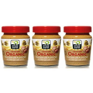 (3 PACK) - Whole Earth - Organic Crunchy Peanut Butter | 227g | 3 PACK BUNDLE
