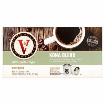 Victor Allens Coffee & Espresso Kona Coffee (80 Single Serve Cups per Case) FG013928