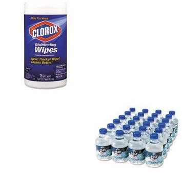 KITCOX01761EAOFX00023 - Value Kit - Office Snax Bottled Spring Water (OFX00023) and Clorox Disinfecting Wipes (COX01761EA)
