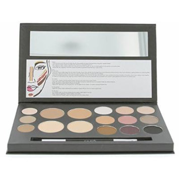 Cameo Cosmetics Eyes and Face Contouring Kit, Dark Colors, A 3 Palettes in One Makeup Kit with 16 Bestselling Shades, Step by Step Instructions Included