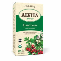2 Packs of Alvita Teas Organic Herbal Tea Bags - Hawthorn Berry - 24 Bags