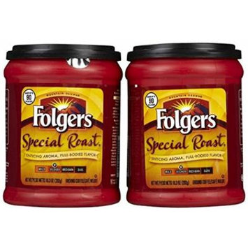 Fresh Taste of Folgers Coffee, Special Roast Enticing Aroma, Full-Bodied Flavor Ground Coffee, Medium Flavor, 10.3 Oz Canister - (2 pk)