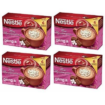 Nestle Mini Marshmallows Rich Milk Chocolate Flavor Hot Cocoa Mix, 0.71 oz, 6 count (4 pack)